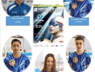 Cinco socorristas del Club Salvamento Don Benito en el Campeonato de España Cadete de Primavera