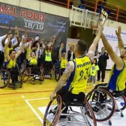 El Mideba recibe el título de tercer clasificado de la liga, la cual tiene como nuevo campeón a Ilunion (1)