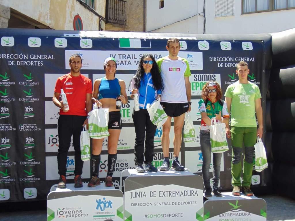 """Lidia de la Calle Domínguez y Jesús Fabian González vencedores de la IV Trail Sierra de Gata-""""As Ellas"""" (Eljas)"""