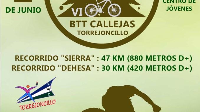 VI BTT Callejas de Torrejoncillo, el Domingo 2 de Junio