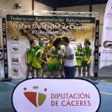 Reale Baloncesto Navalmoral y el C.B. Al-Qazeres campeones de las Finales del Trofeo Diputación de Cáceres de Baloncesto