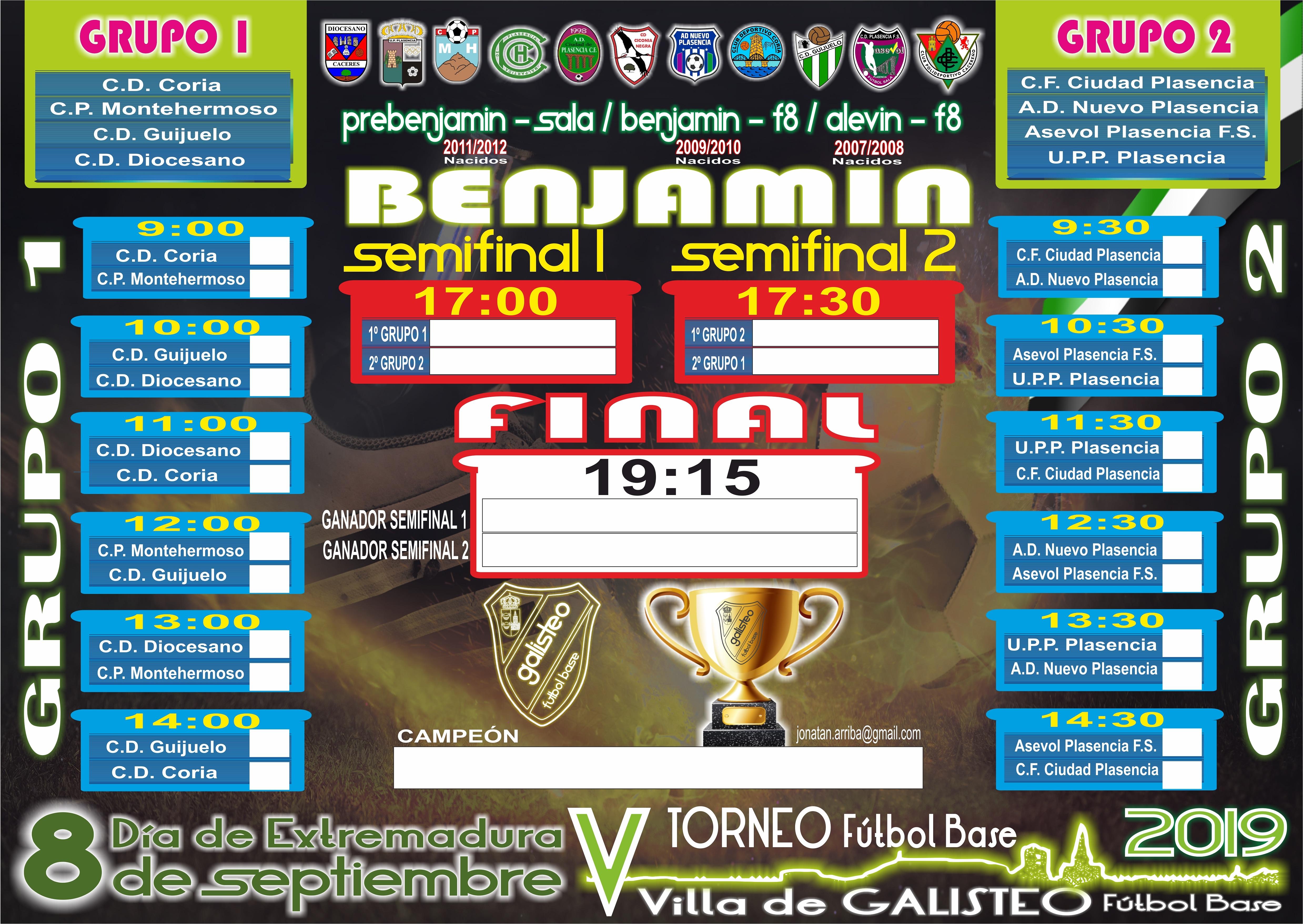 V Torneo de Fútbol Base Villa de Galisteo 2019