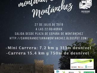 Este sábado se disputa la III Carrera Nocturna Sierra de Montánchez
