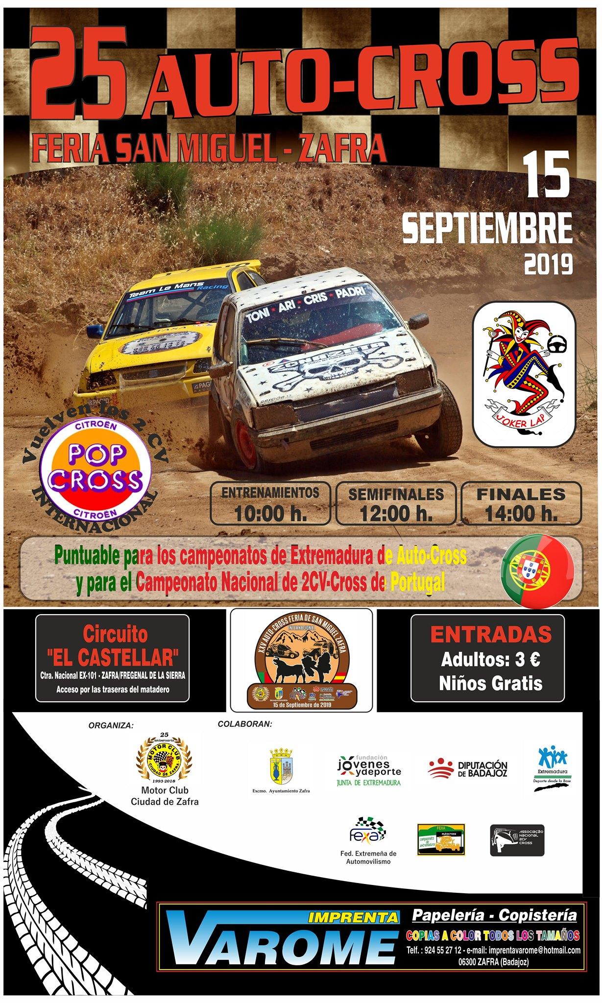 El Autocross Feria de San Miguel de Zafra marca el tramo final de la temporada