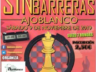 MÁS DE 80 JUGADORES SE DARÁN CITA EN EL III TORNEO AJEDREZ SIN BARRERAS