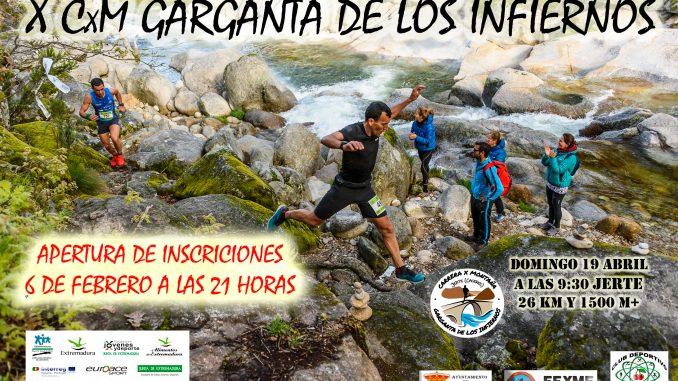 El 6 de Febrero se abren las inscripciones de la X carrera por montaña Garganta de los Infiernos
