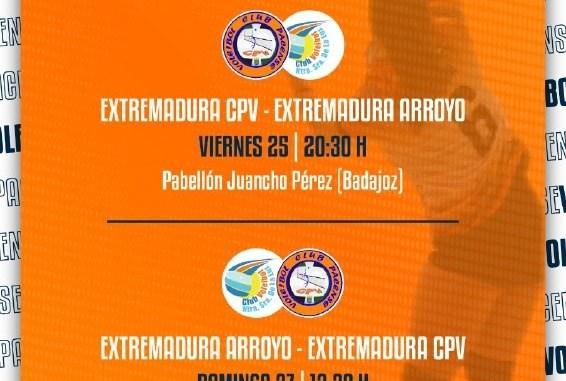 Extremadura CPV y Extremadura Arroyo disputarán por partida doble el Torneo Élite Diputaciones