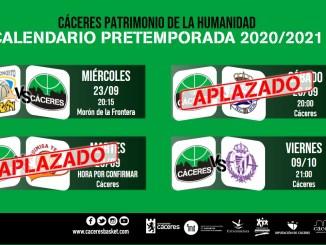 Suspendidos los encuentros amistosos de pretemporada programados del 26 y 29 de septiembre