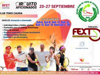 Coria acoge un Torneo del Circuito para Aficionados de Tenis