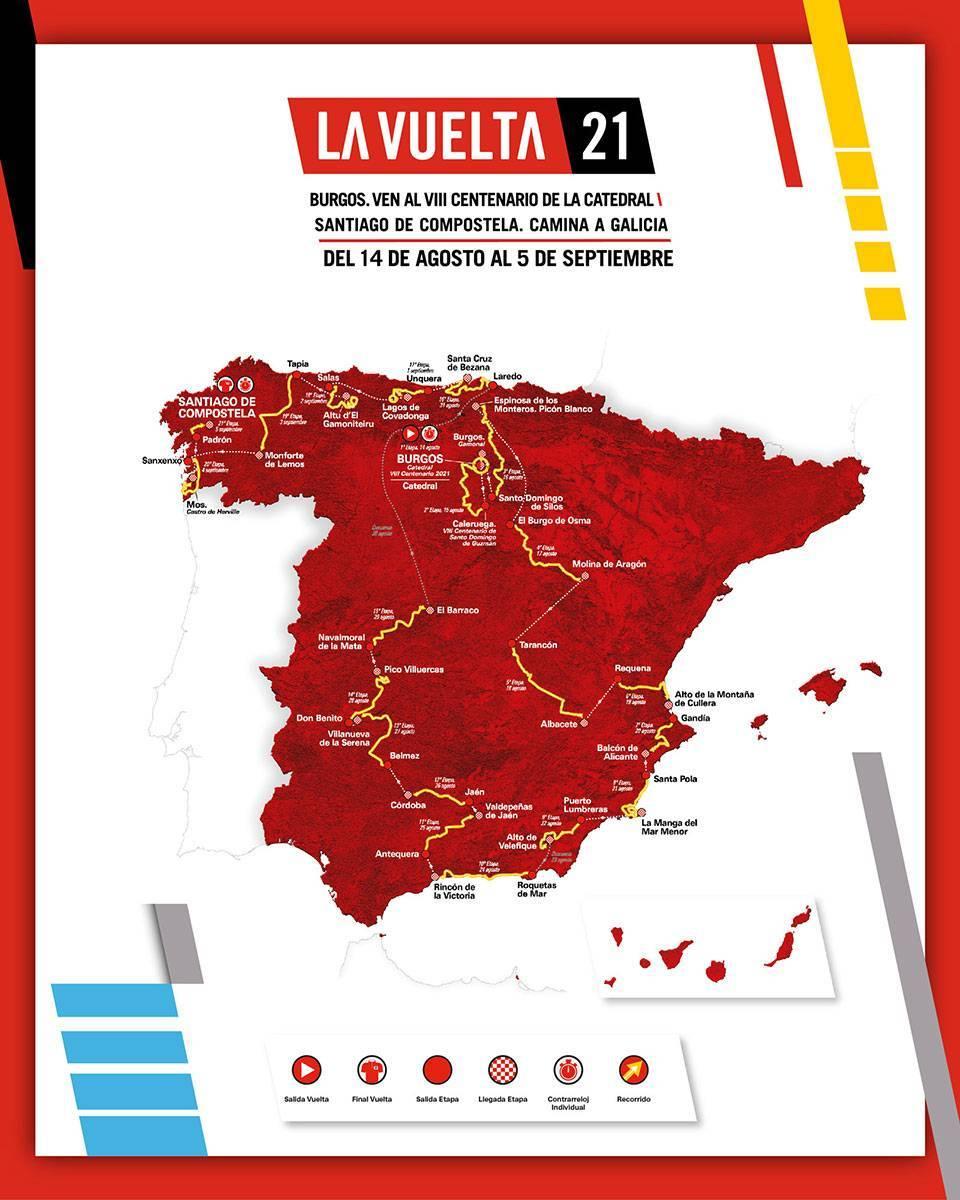 La Vuelta Ciclista a España 2021 pasará por Extremadura, con un final de etapa en el Pico Villuercas