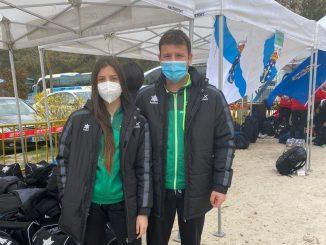 Luis y María en Cto. España Individual de Cross, Getafe, 28-02-2021