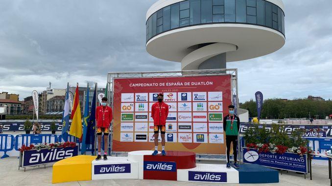 Miguel Blanco se proclama subcampeón de España de duatlón juvenil
