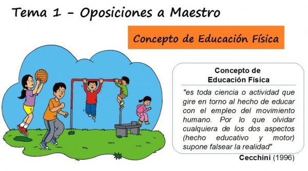 Tema 1: Concepto de educación física: evolución y desarrollo de las distintas concepciones