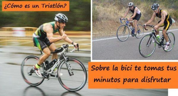 El comienzo de bici en un triatlón intentas tomar aire y disfrutar