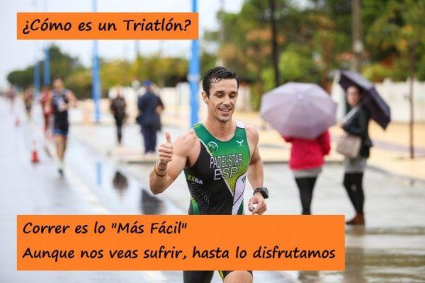 """Al bajar de la bici en un triatlón piensas en cómo reaccionarán tus músculos al correr, aunque nos veas sufrir vamos """"disfrutando"""""""