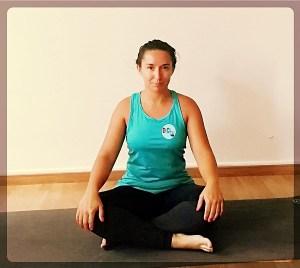 Postura para rutina de yoga