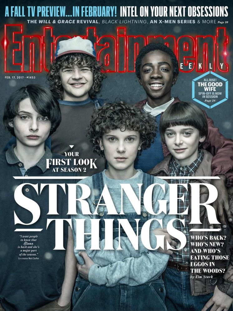 EW divulga capa dedicada à segunda temporada de Stranger Things!