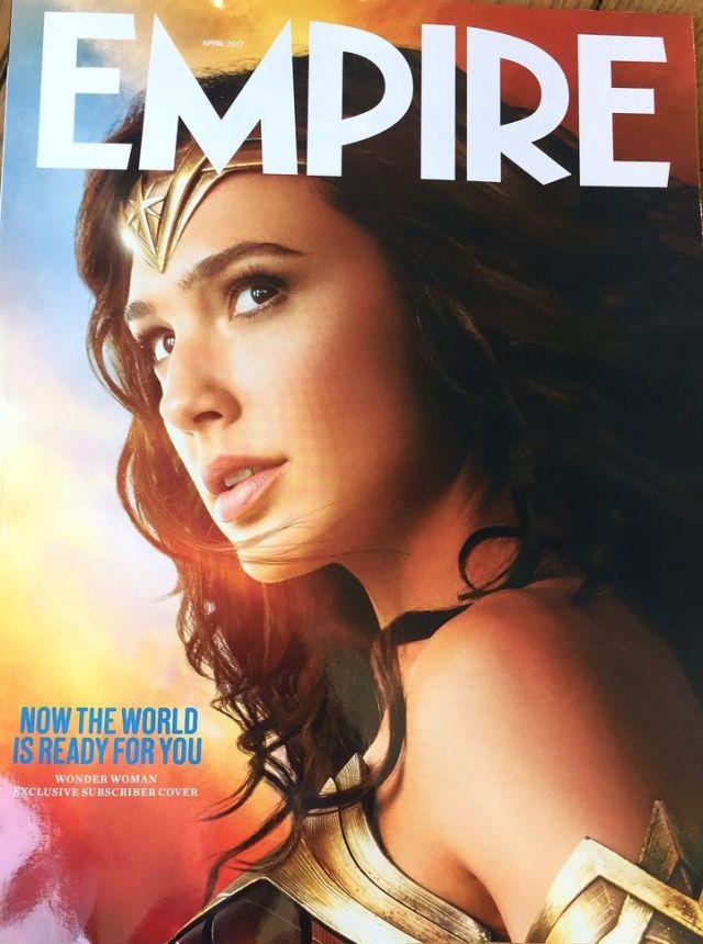 Mulher-Maravilha estampa em nova capa da revista Empire!