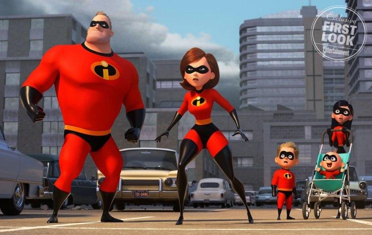 Divulgado a primeira imagem oficial da família Incrível em Os Incríveis 2!