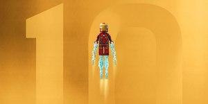 LEGO divulga um pôster especial comemorando os 10 anos da Marvel Studios!