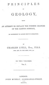Fig. 1. Title page of the first volume of Lyell's (1830-1833) Principles of Geology.