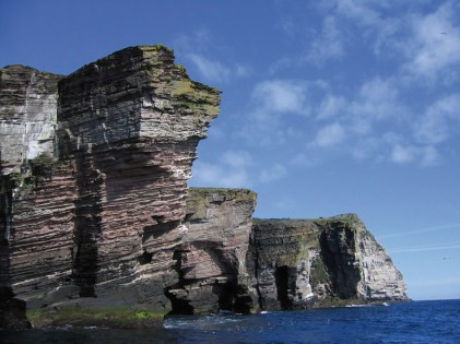 Devonian sandstone cliffs Bressay and Noss