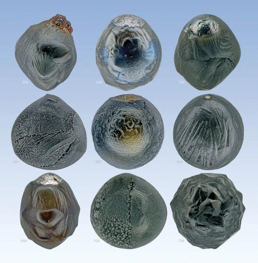 Nine new micrometeorites