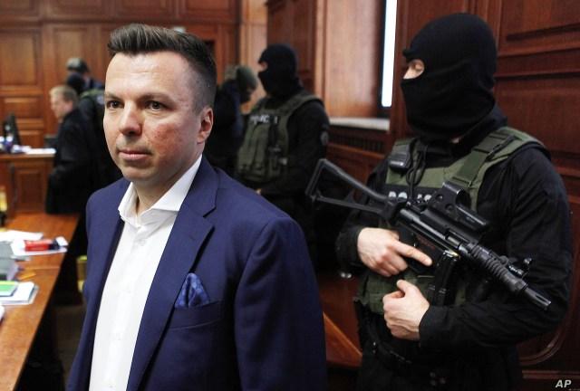 Polish businessman Marek Falenta is seen in court in Warsaw, May 17, 2016.