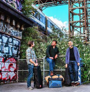 The Black Smock Band stand alongside Deptford's Ha'penny Hatch bridge