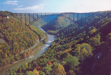 Celeste went to New River Gorge, West Virginia.