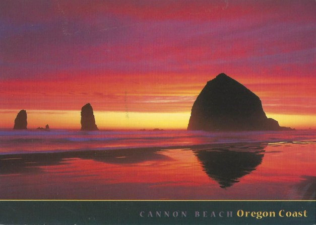 Faith went to Cannon Beach, Oregon.