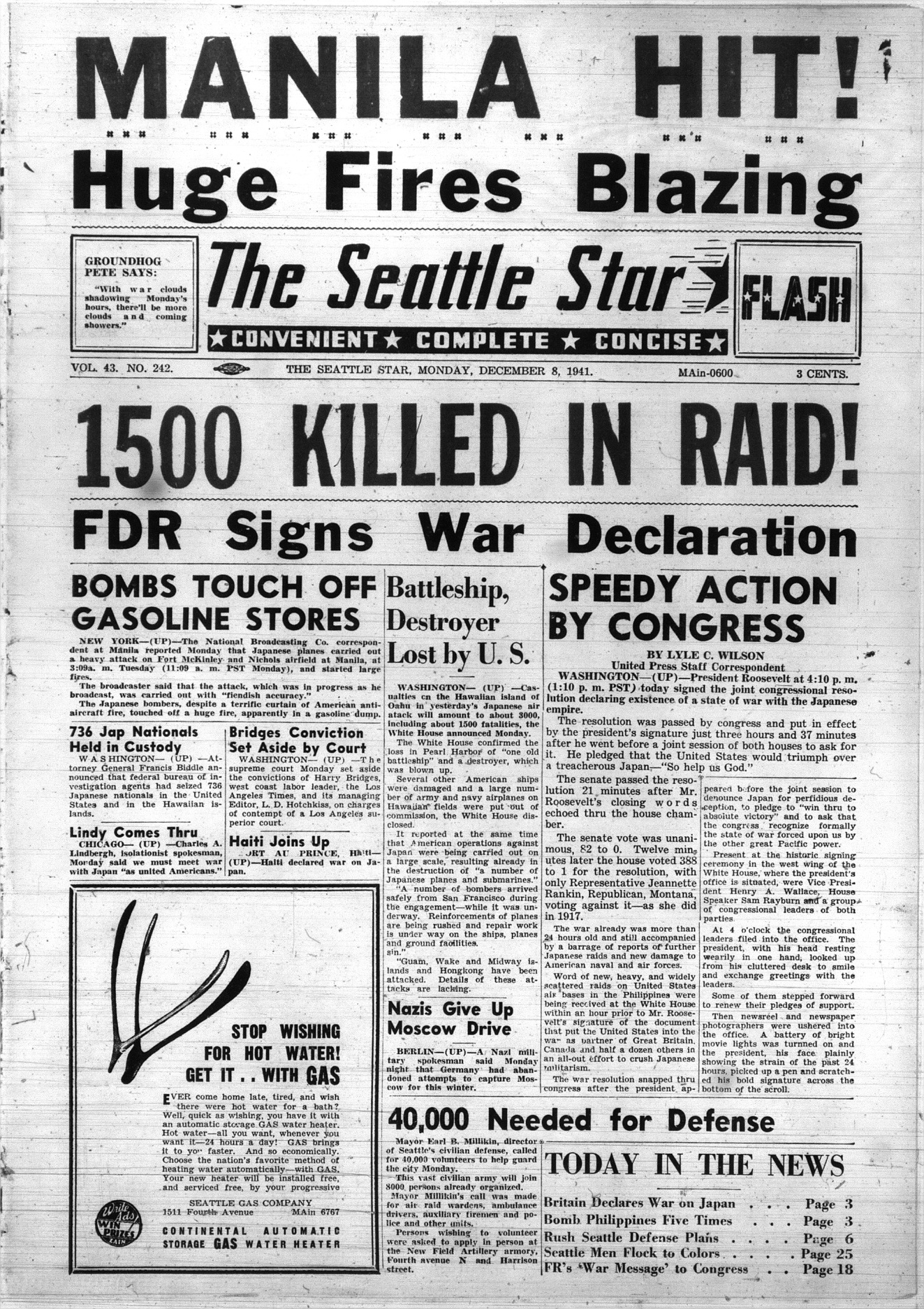 World War Ii And Japanese Internment In The Seattle Star