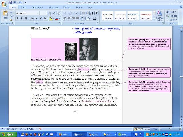 UW CIC Faculty Guide Online Using Microsoft Word