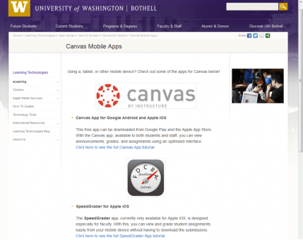 canvas mobile apps