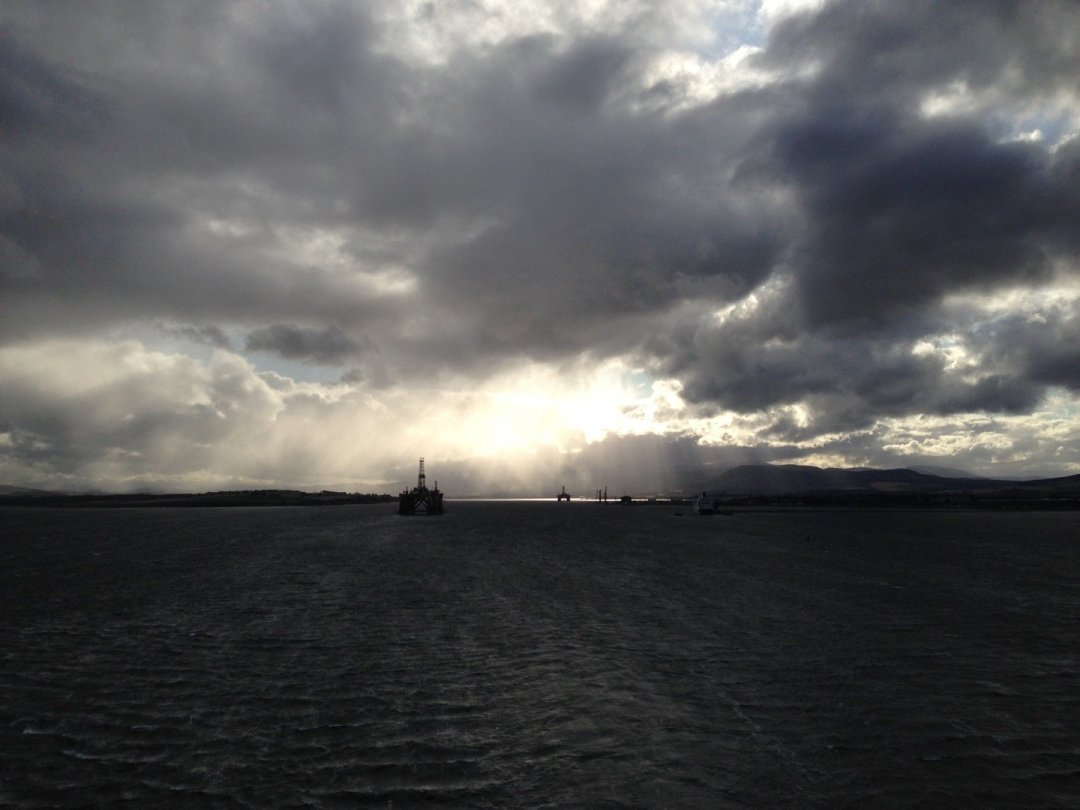 Atardecer en el Cromarty Firth.