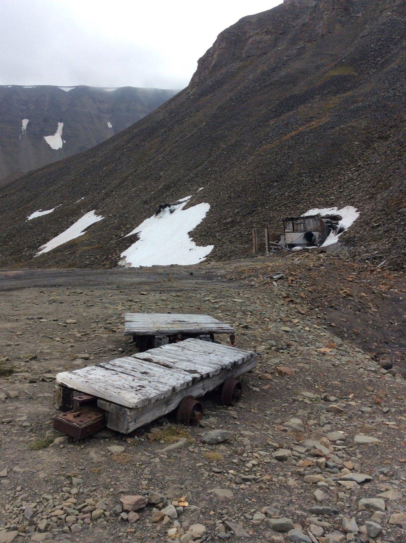 Mina abandonada en Sarkofagen