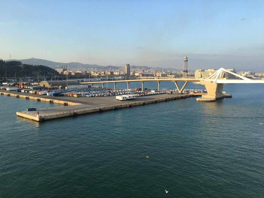 Barcelona desde el Norwegian Epic