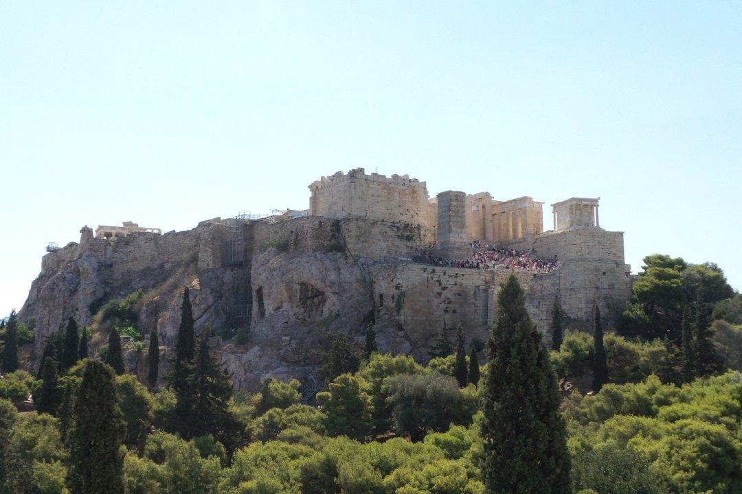 La Acrópolis desde el Areópago