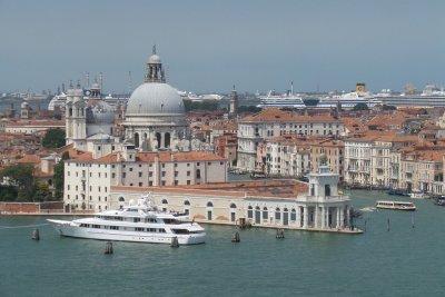 La Punta de la Aduana desde el campanile de San Giorgio Maggiore
