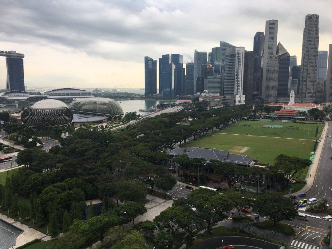 Vista desde el Fairmont Singapore