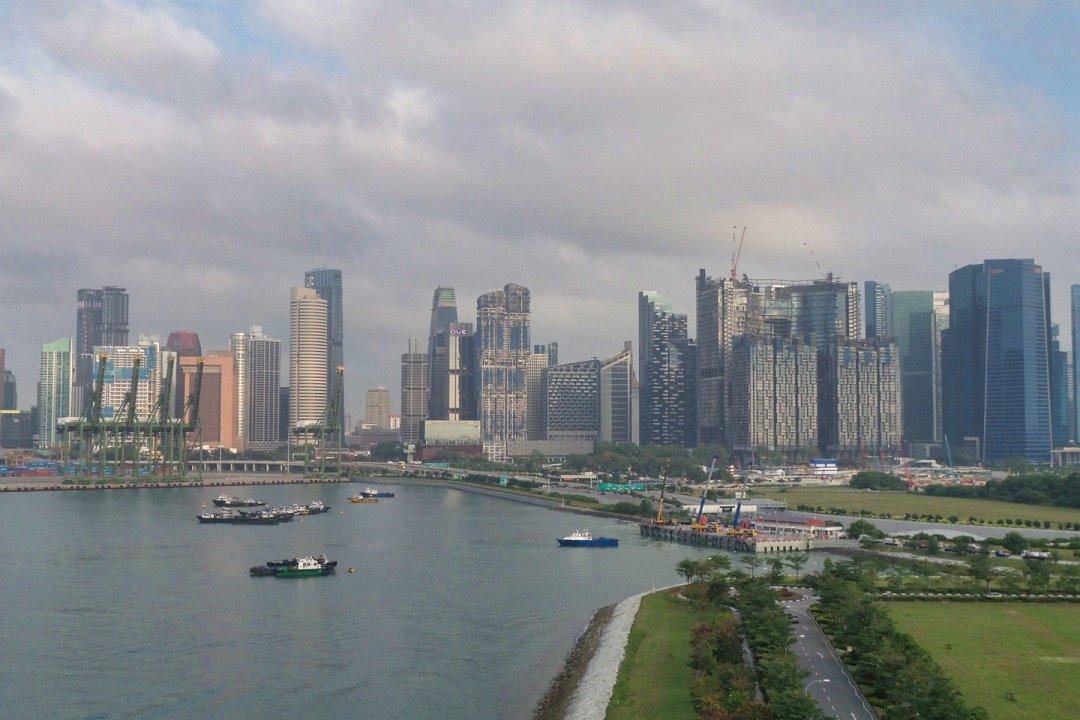 Distrito financiero de Singapur desde el Celebrity Constellation