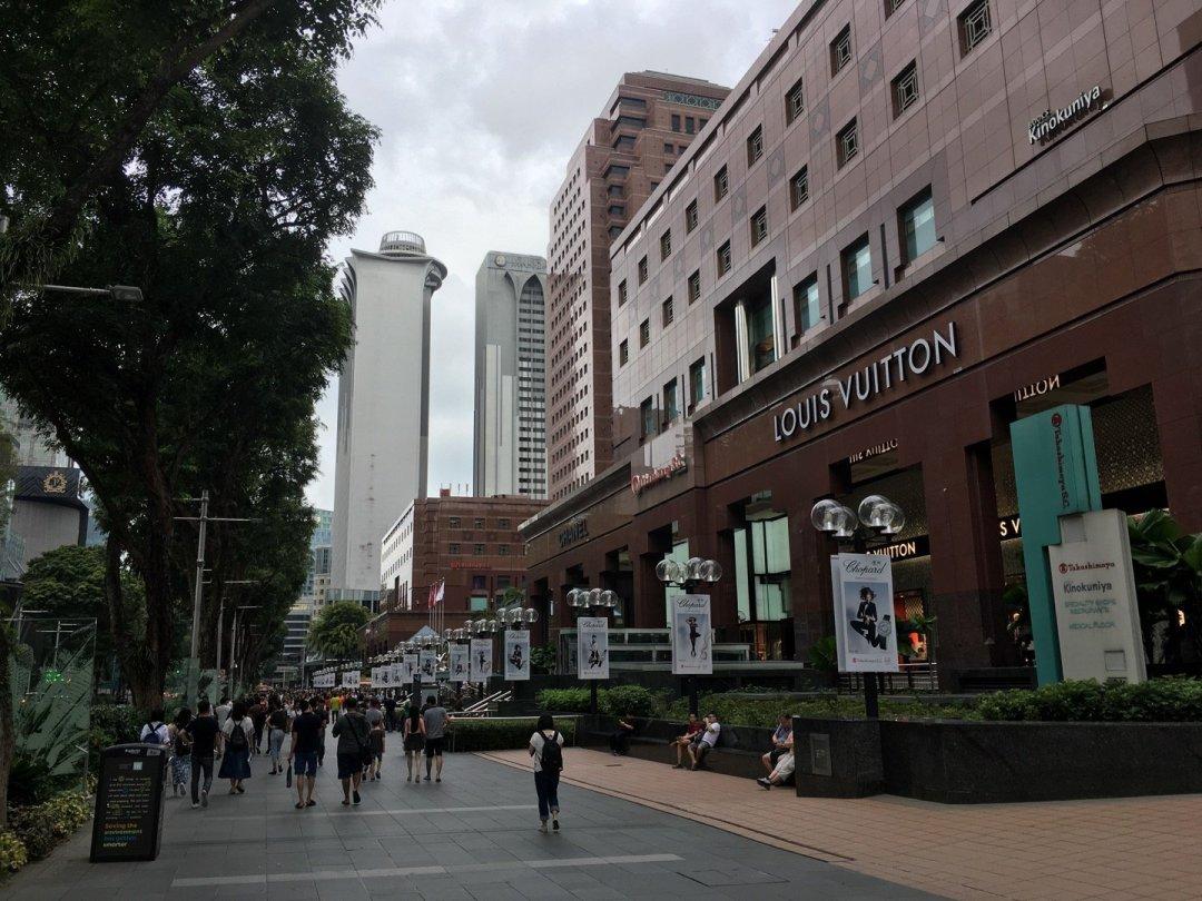 Paseando por Orchard Road