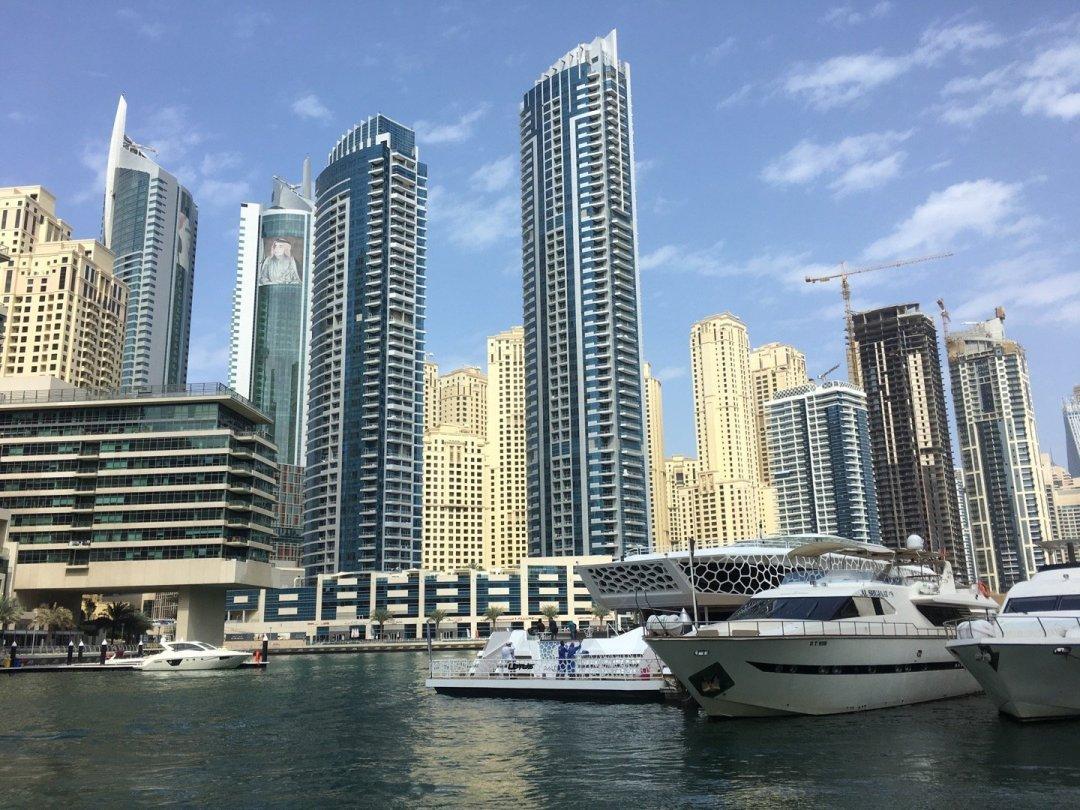 Llegando a Dubai Marina Mall