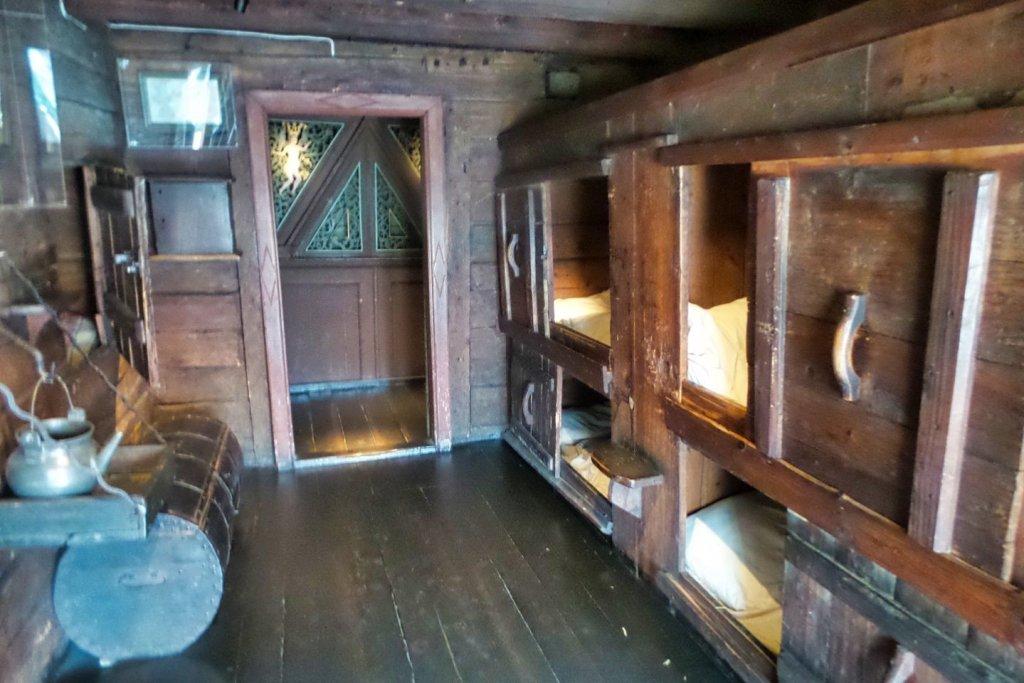 Dormitorio en el Museo Hanseático
