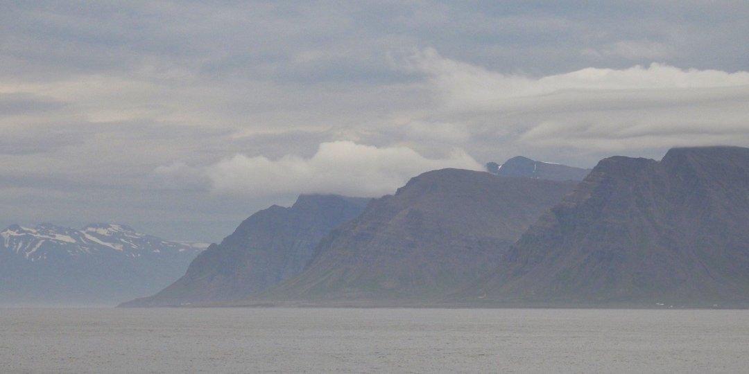 Ocaso en el norte de Islandia