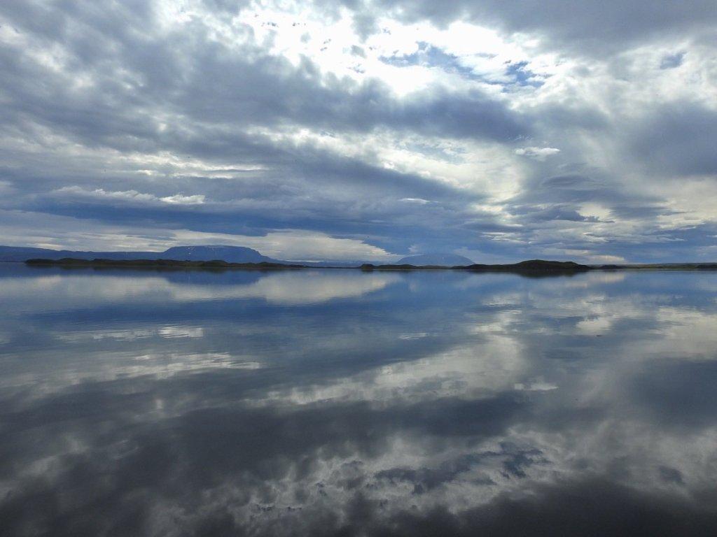 Reflejos en el lago Mývatn