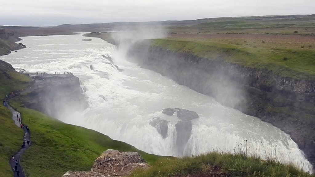 Vista general de Gullfoss