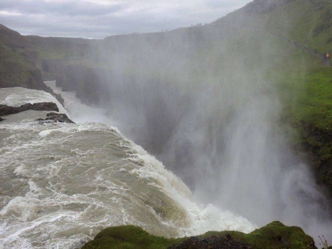 El río Hvítá aguas abajo de Gullfoss