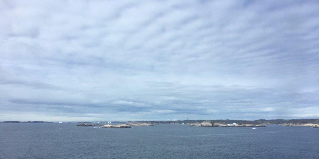 Llegando a Groenlandia