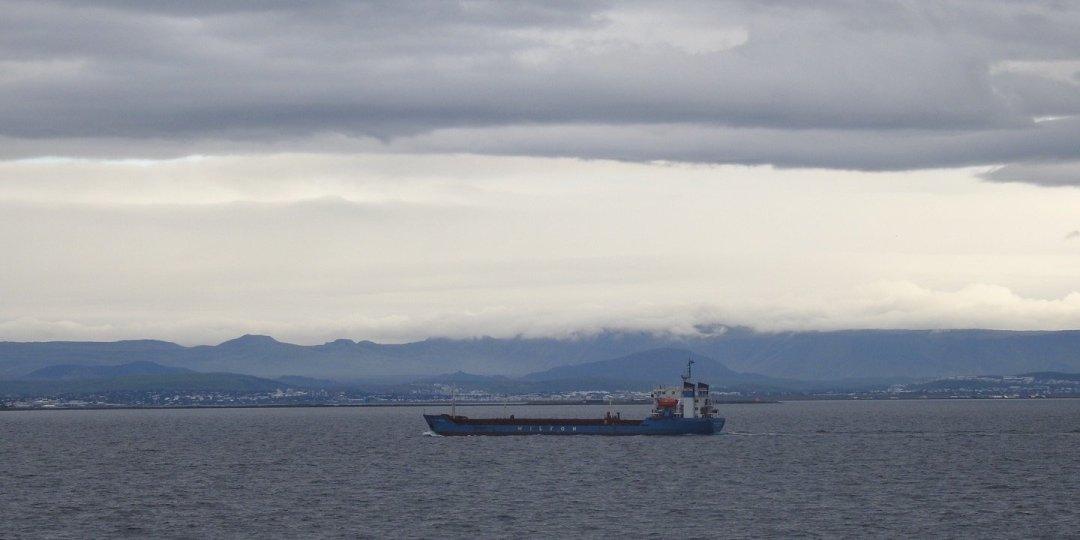 Navegando frente a Reikiavik